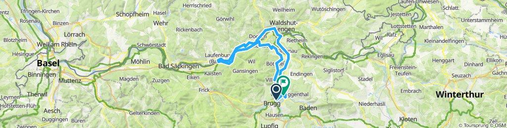 Brugg-Leuggern-Laufenburg-Waldshut-Vogelsang