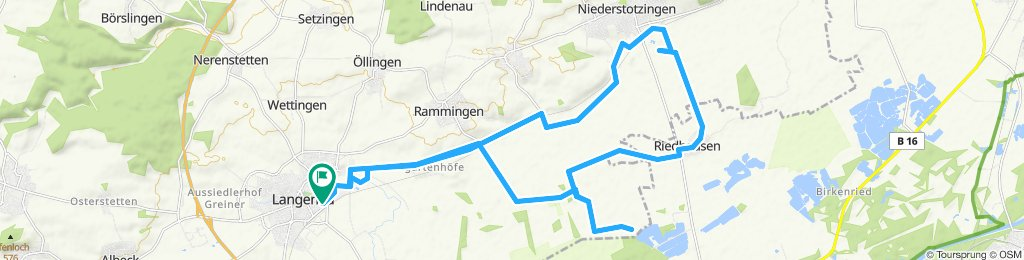 Gerade Fahrt in Langenau