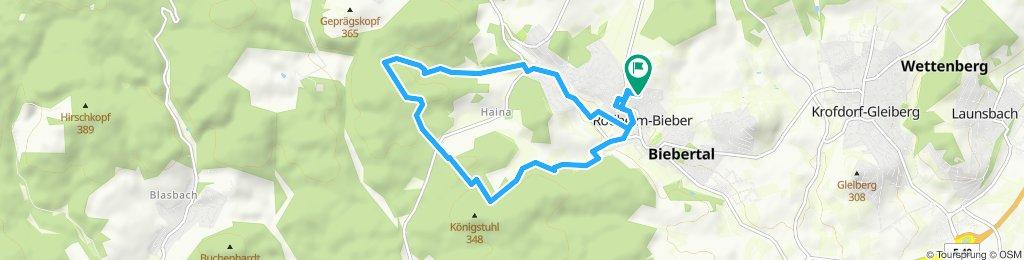 Route im Schneckentempo in Biebertal