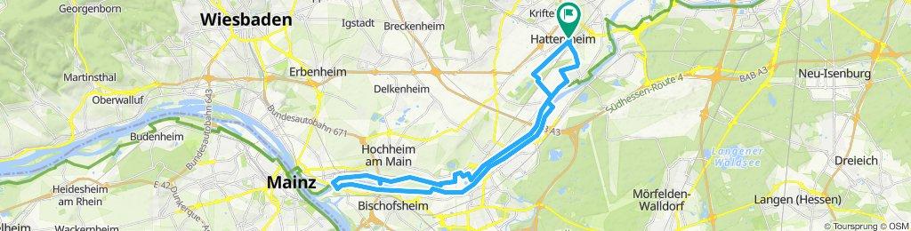 Langsame Fahrt in Hattersheim am Main
