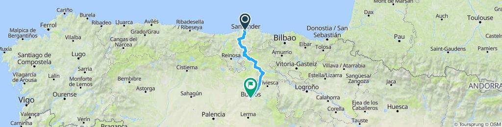 Santander to Burgos