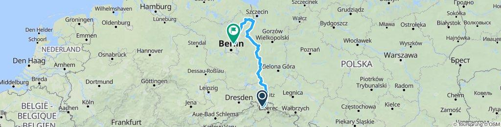 Oder Neiße Radweg von Zittau bis Penkun zurück nach Panketal