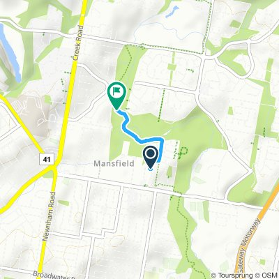 Snail-like route in Mansfield