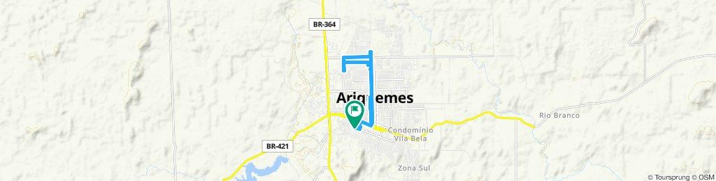 Rota moderada em Ariquemes