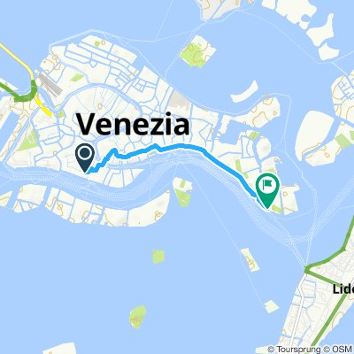 Moderate route in Venice