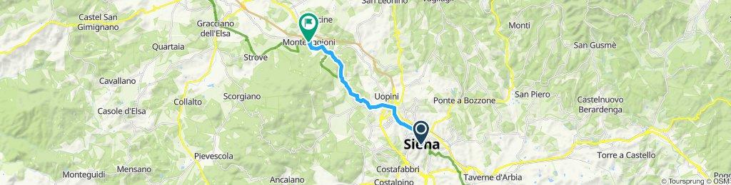 Siena-Monteriggioni via Cassia Nord