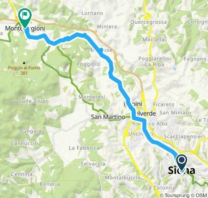 Siena-Monteriggioni via Badesse