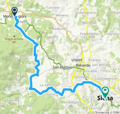 Siena-Monteriggioni via Francigena
