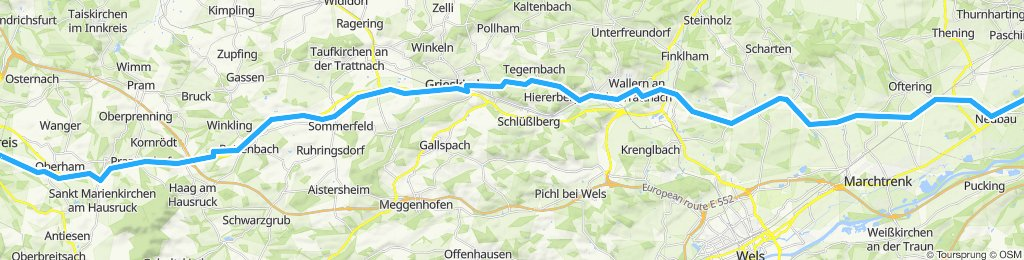 Moderate route in Traun