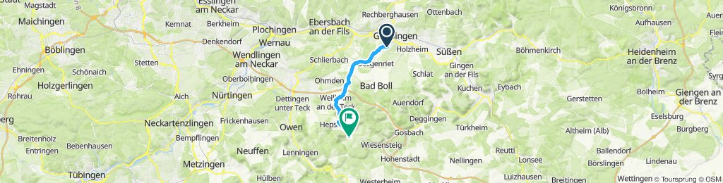 Von jebenhausen zum wanderparkplatz braike neidlingen