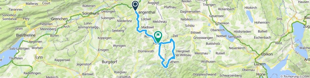 Bützberg-Linde-Huttwil-Ahorn-Luthern-Hüswil-Ufhusen-Huttwil