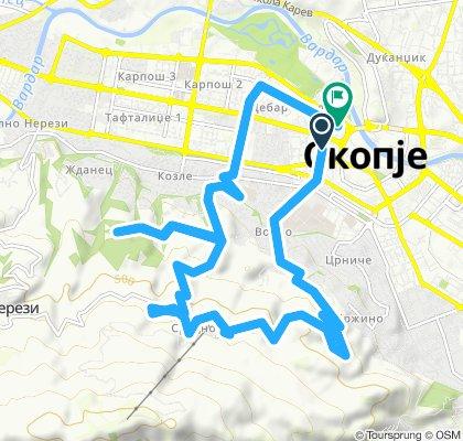 Steady ride in Skopje