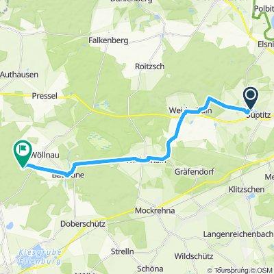 Langsame Fahrt in Doberschütz