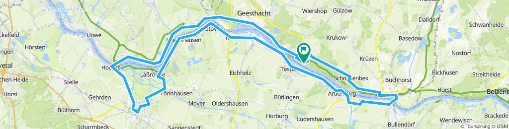 Elberadweg - Geesthacht - Winsen - Lauenburg