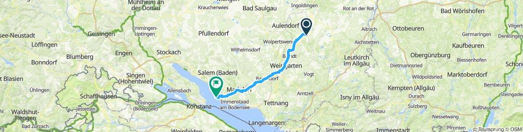 Einfache Fahrt in Meersburg