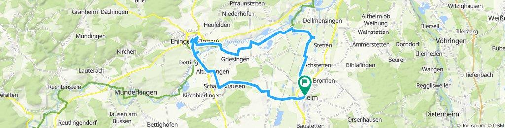 Nach Ehingen und entlang Donau