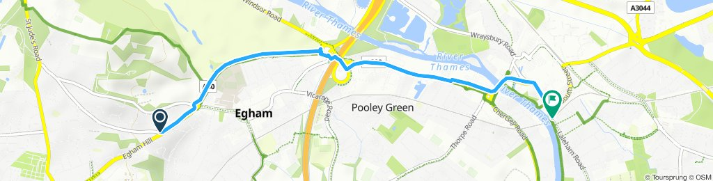 Moderate route in Staines-upon-Thames