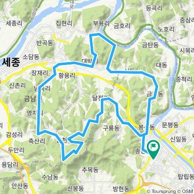 망골임도-바람재B-대박리-광덕사-박산리-금고동