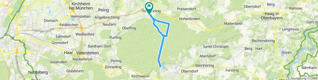 Einfache Fahrt in Forstinning