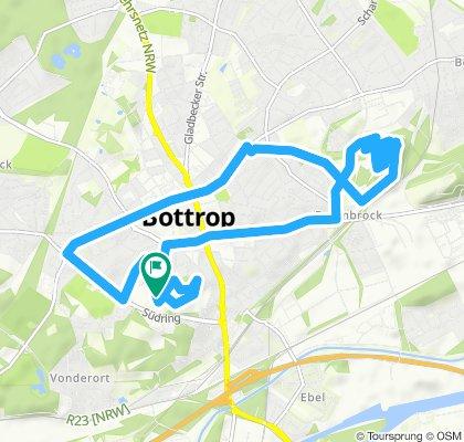 Route im Schneckentempo in Bottrop