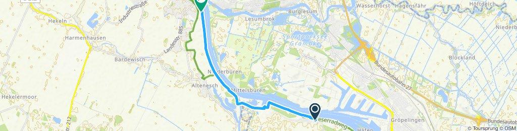 Gerade Fahrt in Bremen