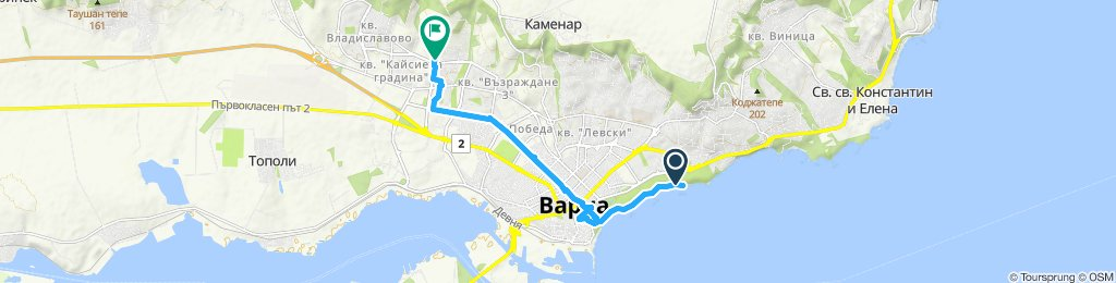 Moderate route in Varna