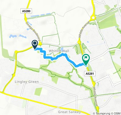 Moderate route in Warrington