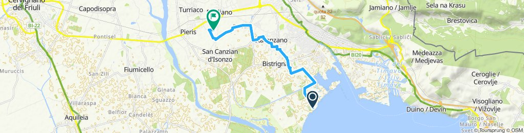 Giro semplice in San Canzian d'Isonzo