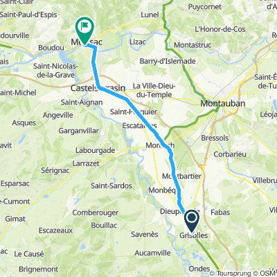 Grisolles to Moissac A-A