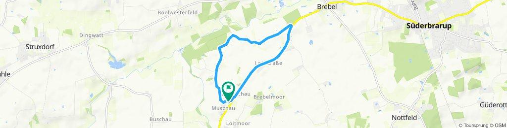 Route im Schneckentempo in Loit