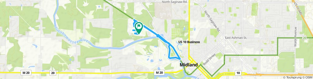 Relaxed route in Midland