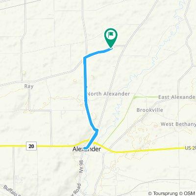 Snail-like route in Alexander
