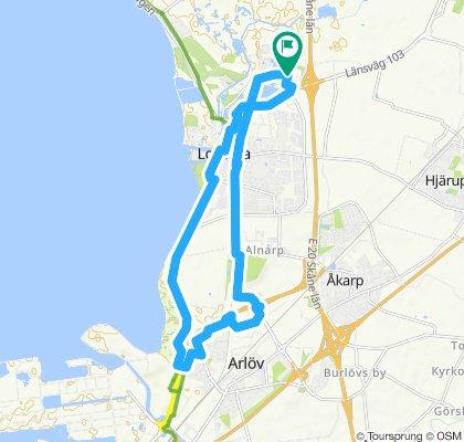 Snail-like route in Lomma