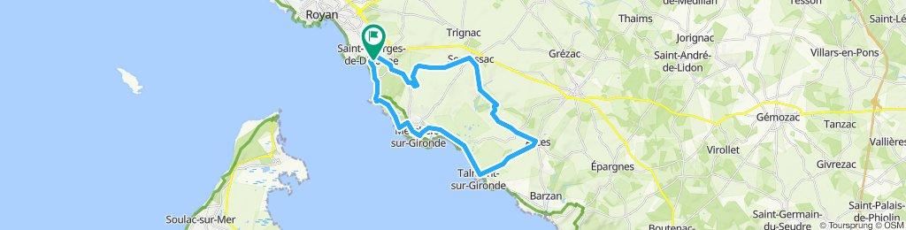 Itinéraire modéré en Saint-Georges-de-Didonne langeaisién