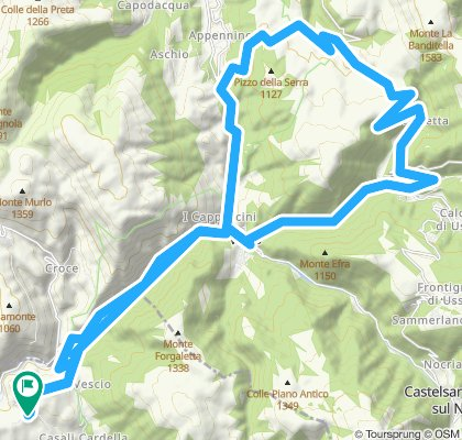 Castelvecchio / Visso /Macereto / ValleStretta/ Ussita /Visso /Saccovescio /Castelvecchio
