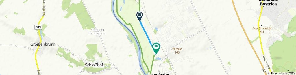 Stredná trasa Devínska Nová Ves
