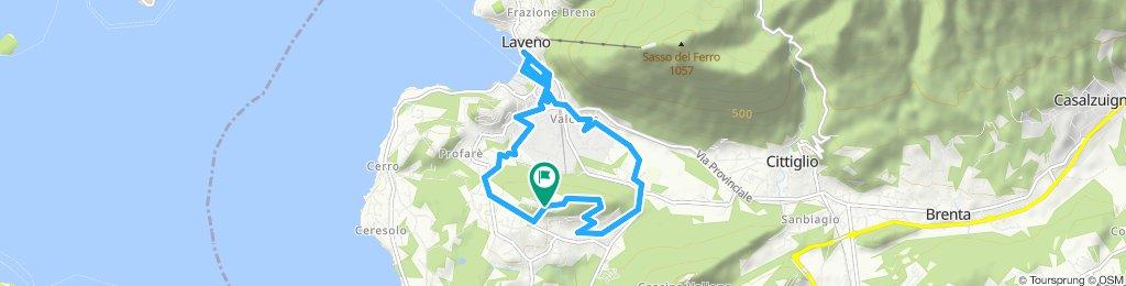 Giro a velocità lenta in Laveno-Mombello
