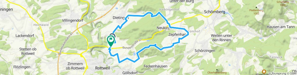 Moderate Route in Rottweil