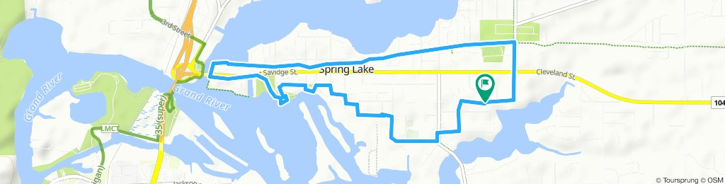 Relaxed route in Spring Lake