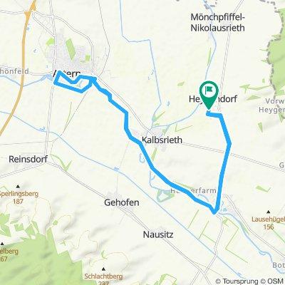 Einfache Fahrt in Heygendorf