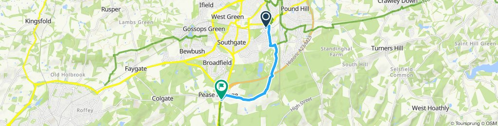 Moderate route in Crawley