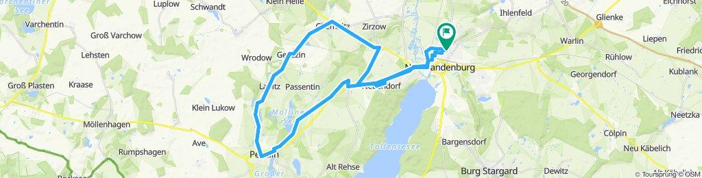 Einfache Fahrt in Neubrandenburg