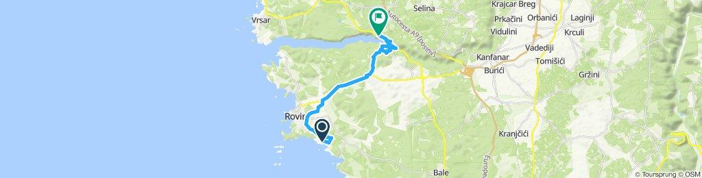 Einfache Fahrt in Sveti Lovreč
