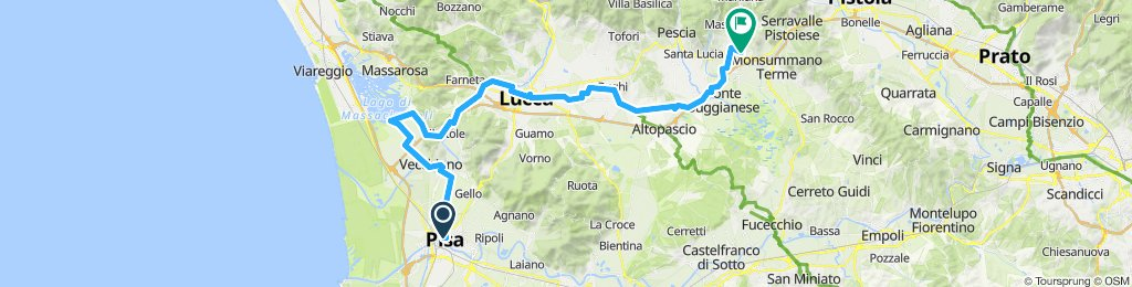 1.nap Pisa-Lucca-Montecatini-Terme Hosszabb