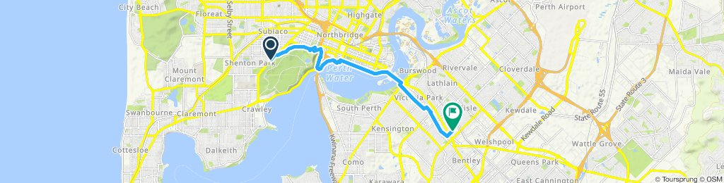 Perth Pool route
