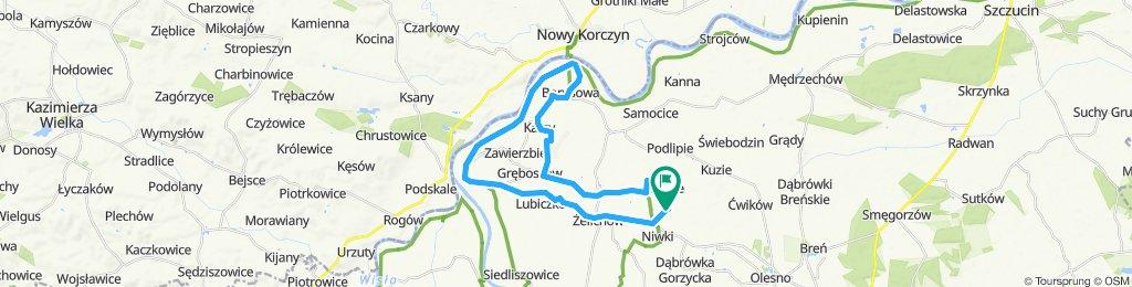 Zalipie-Borysowa- Ujście Jezuickie - Żelichów-Zalipie