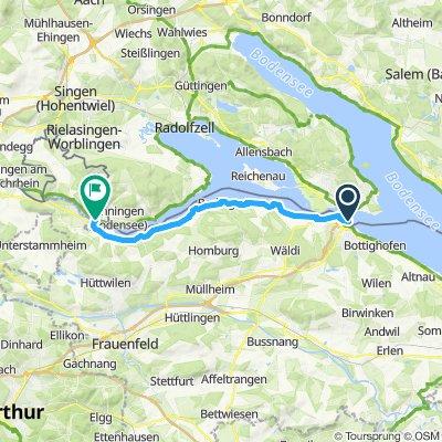 Rheinradweg 1. Etappe