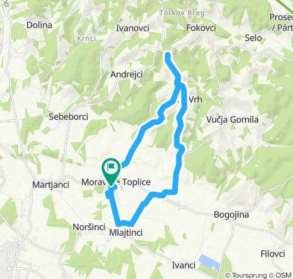 Trasa Terme 3000- Ozaza (Tešanovci) - Passero (Tešanovci) - Zeleni gaj, Fokovci - Terme 3000