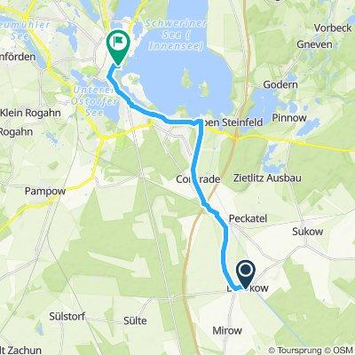 Route im Schneckentempo in Banzkow