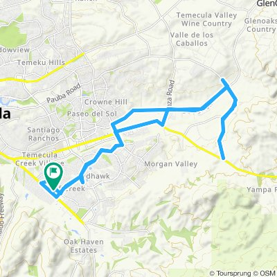 Easy ride in Temecula Horse Country-Pauba Rd